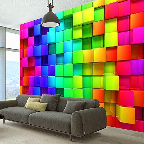 Vlies Fototapete 400x280 cm ! Top - Tapete - Wandbilder XXL - Wandbild - Bild - Fototapeten - Tapeten - Wandtapete - Wand - Kubus Würfel 3D f-A-0350-a-a