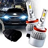 Brightt LED Headlight Bulbs Conversion Kit (H11/H8/H9) (pack of 2) High-Power Restoration Kit, 200% Brighter than Stock Headlights - 50,000 Hours Continuous Use, 8000 Lumens, 6000k White