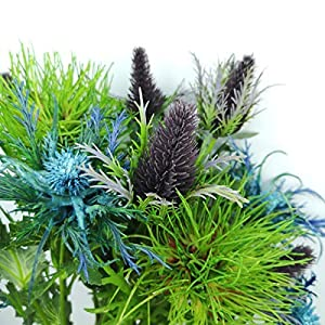 Lily Garden 6 Long Stems Artificial Eryngo Thistles Bunch of Flowers Plants for Home Decor Centerpieces (Mix) 4