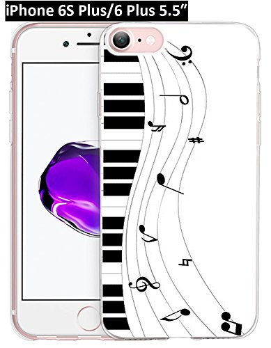 Iphone 6S Plus Case Musical Note,Apple Iphone 6 Plus & 6S Plus Case Wonderful Piano Pop Music