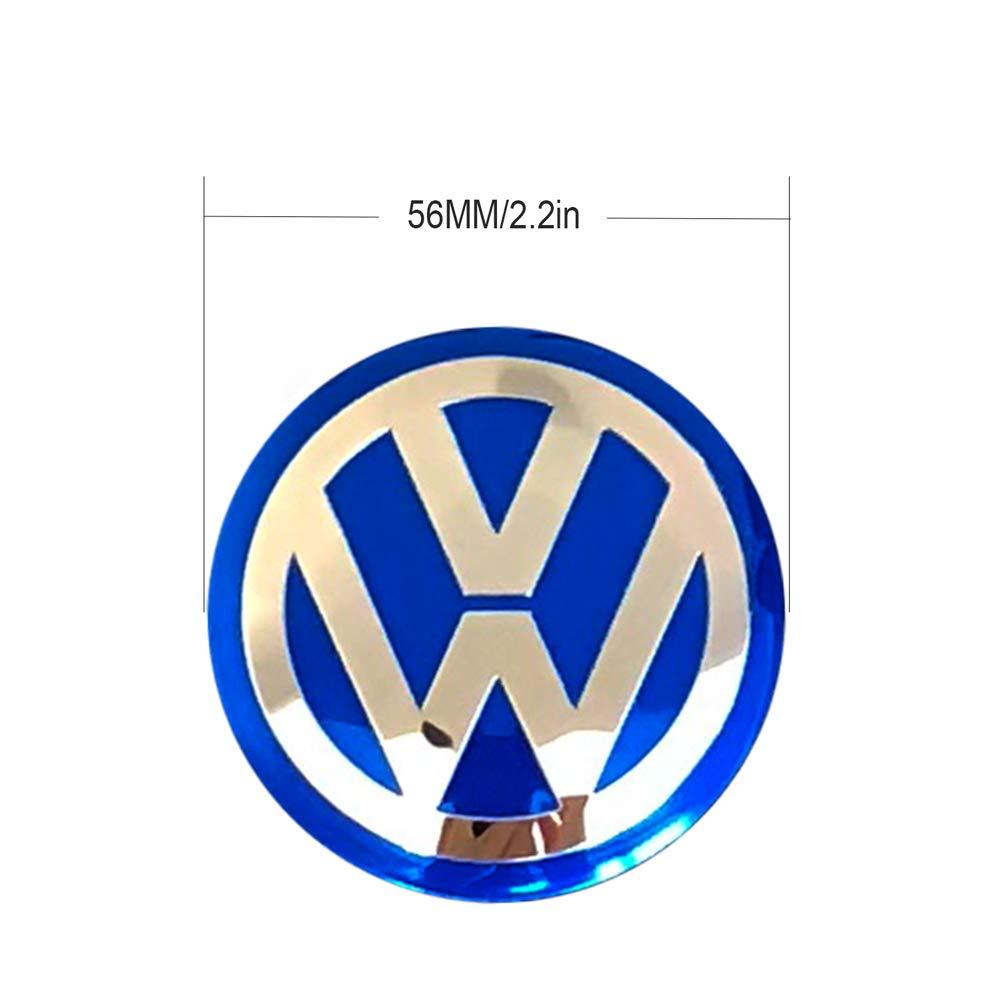 MonboAuto 65mm 2.5 Wheel Center Hub Cap Decals Emblem Stickers for VW Volkswagen Center Caps