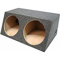 ASC Dual 15 Subwoofer Sealed Universal Fit Angled Hatch Sub Box Speaker Enclosure