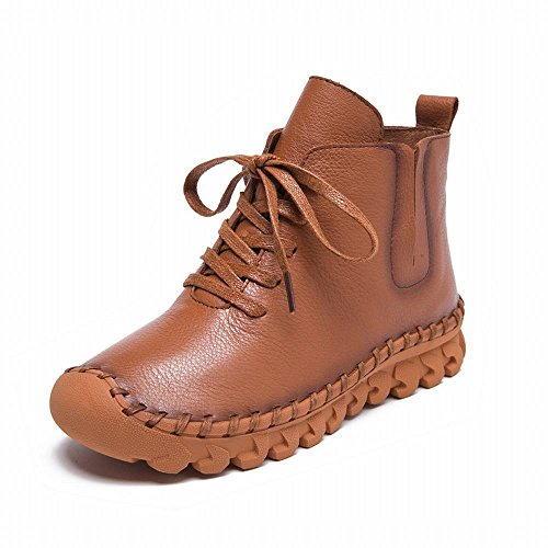 'S and Color DXD Comfortable Winter Solid Casual Boots Women Shoes with Brown Fall 6q6nwxA