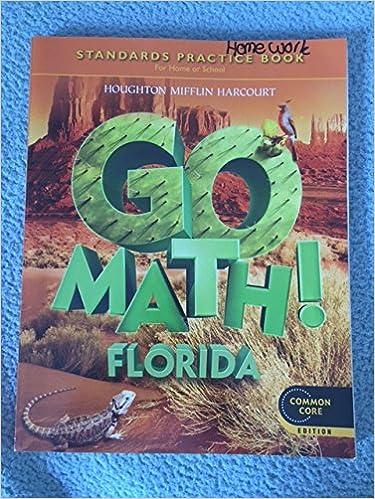 Amazon.com: Houghton Mifflin Harcourt Go Math Florida: Practice ...