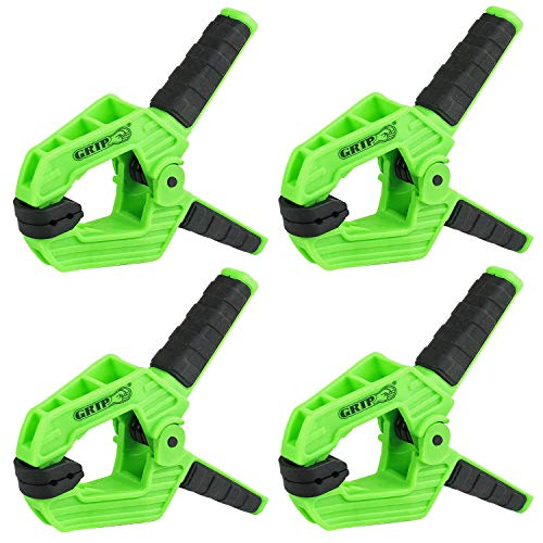 4 Pack Heavy Duty 4 inch Spring Clamp Thermoplastic Anti-Slip Grip Tools ()