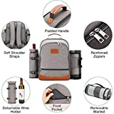 HappyPicnic Insulated Picnic Backpack for 4 Persons
