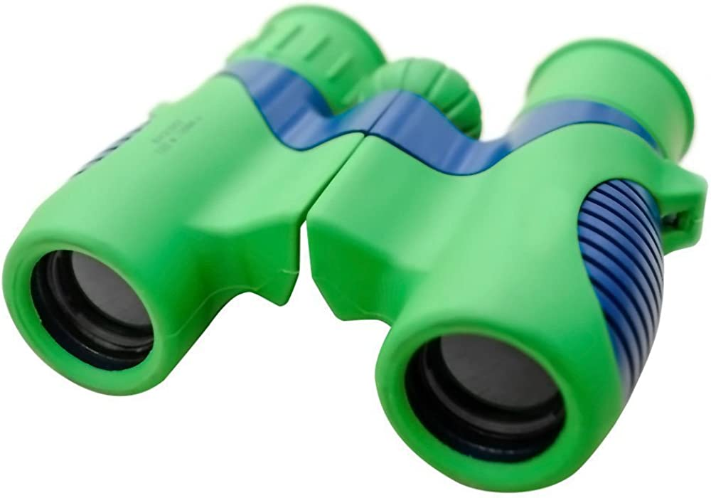 Lookout Shock and Drop Resistant 8×21 Kids Binoculars Set – Kids Compact Binoculars for Bird Watching, Educational Learning, Stargazing, Hunting, Hiking, Sports Games, Outdoor Adventure