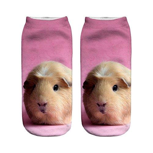 ee44fcdb1 Sock It To Me Women s Knee Funky Guinea Piggin Around Socks · 3D Printed  Unisex Cute Low Cut Ankle Socks Harajuku Style Fat Guinea Pig Free Size