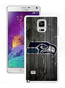 Seattle Seahawks 5 White Custom Phone Shell Samsung Galaxy Note 4 Case Cool Design