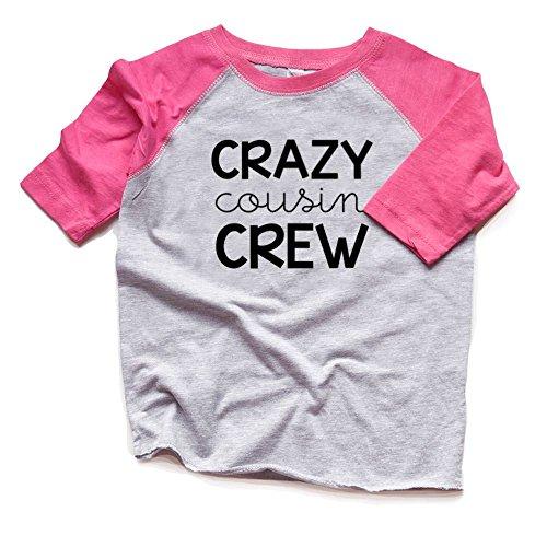 Cousin Shirts Boy or Girl - Crazy Cousin Crew Raglan Tshirts Kids - Family Reunion Tees