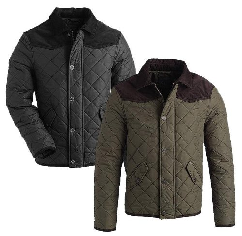 Brand New British-handmade Quilted Mens Jacket Coat (LARGE, OLIVE ...