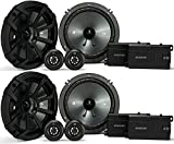 (2) KICKER 43CSS654 6.5'' 6-1/2'' 1200 Watt 4-Ohm Car Audio Component Speaker Sets