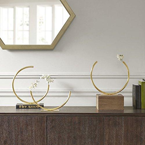 MADISON PARK SIGNATURE Hera Rounded Tube Vase Gold Medium