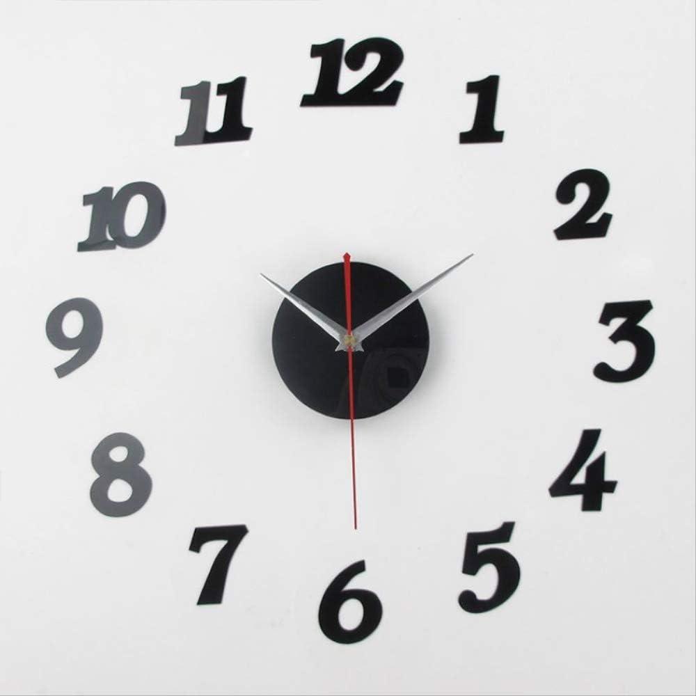 Amazon Com Yjmm Modern Wall Clock Silent Non Ticking Decorative Operated Wall Clock Creative Fun Digital Wall Clock Diy Clock Gift Clock Simple Home Kitchen