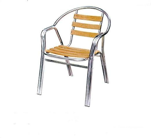 Sedie In Alluminio E Legno.Grand Soleil Sedia Alluminio In Alluminio E Legno Amazon It