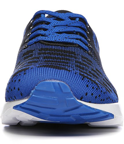 ROMENSI Männer Leichte Athletische Tennis Laufschuhe Atmungsaktive Sportschuhe Turnschuhe US7-11 Blau