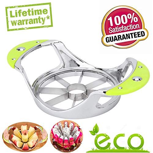 B-SUPER Apple Corer Apple Slicer and Corer Pear Core Remover,Stainless Steel Blooming Onion Cutter Kitchen Gadgets Metal Wedger Divider for Extra Large Fruit Decorer Tool Easy Grip Ultra Sharp Pitter