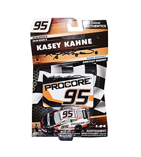 AUTOGRAPHED 2018 Kasey Kahne #95 Pro Core Team RETIREMENT FINAL SEASON (Leavine Family Racing) Monster Energy Cup Series Wave 6 NASCAR Authentics Signed Lionel 1/64 Scale Diecast Car with COA (Kasey Kahne Diecast 2018)