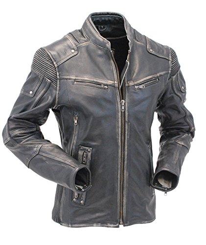 Womens Vintage Motorcycle Jacket - 5