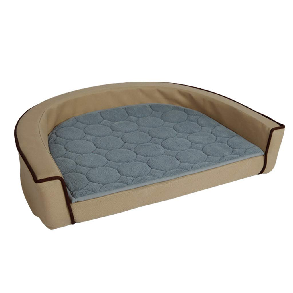Beige LITING Kennel Removable And Washable Dog Bed Teddy golden Retriever Pet Nest Small And Medium Dog Sofa Mattress Cat Litter Dog Supplies (color   Beige)