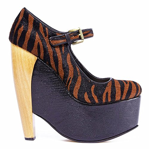 DV8 by Dolce Vita DALICE Womens Platform Wedge Leopard Pump (6.5, Tiger Print Pony Hair)
