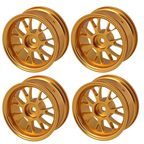 LAFEINA 4PCS 52mm Aluminum Alloy Wheels Rims for 1/10 On-Road Drift Car HSP Redcat HPI Himoto Upgrade Parts