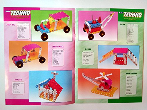 SENIOR TECHNO ,Construction Toys Mechanical Kit For Kids - (Age 6+) with guide book by JAGGERMART (Image #3)