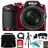 Nikon COOLPIX B500 RED 16MP 40x Optical Zoom Digital Camera 32GB Bundle includes Camera, Bag, 32GB Memory Card, Reader, Wallet, AA Batteries + Charger, HDMI Cable, Tripod, Liquid Deals Cloth and More Review