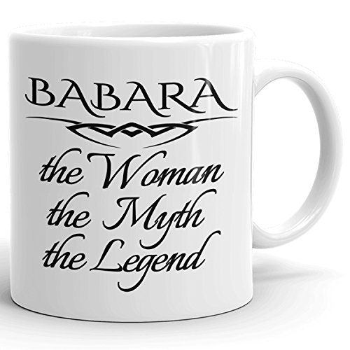 Best Personalized Womens Gift! The Woman the Myth the Legend - Coffee Mug Cup for Mom Girlfriend Wife Grandma Sister in the Morning or the Office - B Set 1