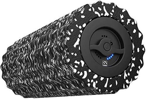 FITINDEX Electric Foam Roller 4 – Speed Vibrating Yoga Massage Muscle Roller, Deep Tissue Trigger Point Sports Massage Therapy, High-Intensity Massager Roller with Rechargeable Function – Black
