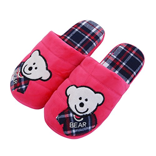 House Different TrendsBlue Fabric Bear Fleece Baby Slippers Cozy amp; Hot Pink Colors qXx8Y