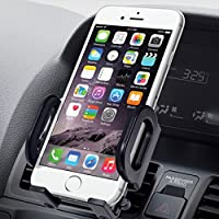 Jarv Premium Flexible Air Vent for Apple iPhone X 8 7 6S 6 Plus ; Samsung Galaxy S8 S7 S6, Galaxy Note 8 5 Edge Plus Phones w/Cushioned Car Mount Holder (with or without case) - Retail Package