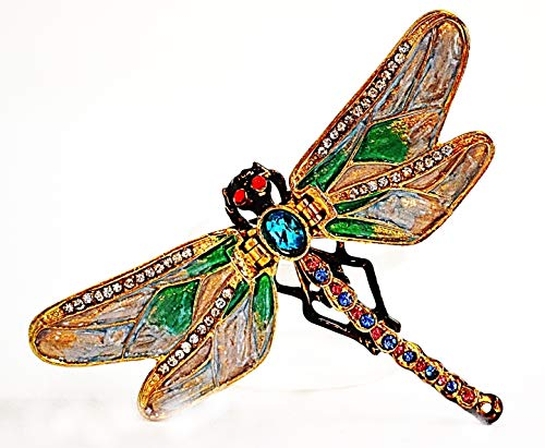 (Ciel Collectables Dragonfly Trinket Box. Hand Made with Swarovski Crystals & Enamel)