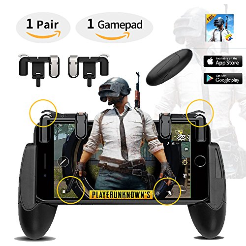 """LTC Scissor's Series Mobile Game Controller Set, include LTC """"ScissorHands"""" Game Trigger M2 and LTC """"ScissorBrothers"""" Game Holder H1, Compatible with 4.5"""" to 6.4"""" Smartphone - Black"""