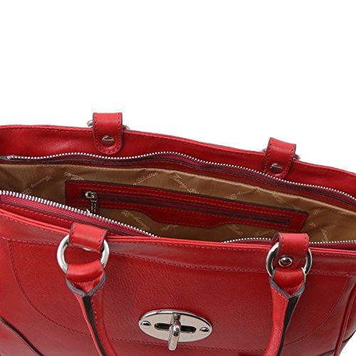 Borsa Neoclassico rosso Donna Pelle Cutanea Toscana In Mano Tl rnwp6xHn