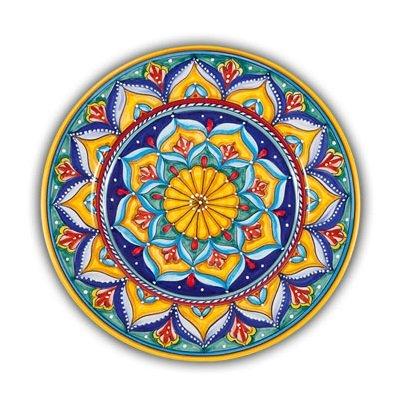 Italian Ceramic Dinner Plate Geometrico - Handmade in Deruta
