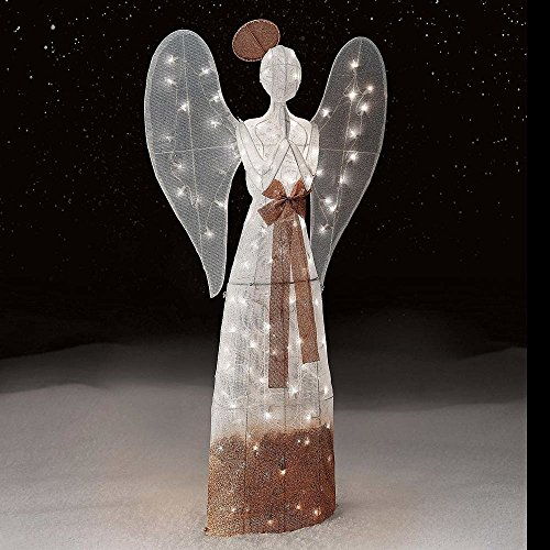 Outdoor Lighted Xmas Angel - 5