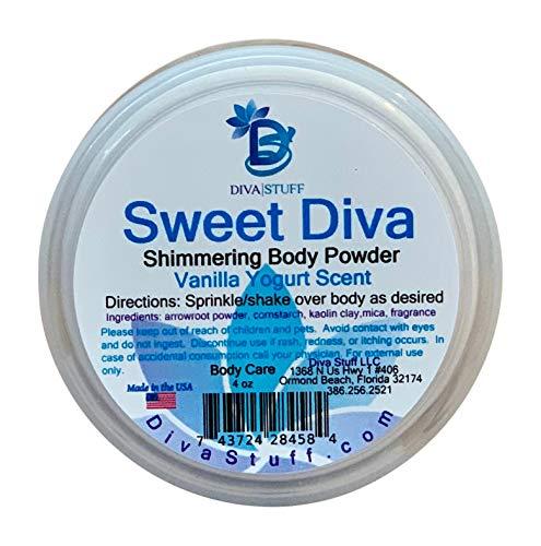 Sweet Diva, Shimmering Vanilla Yogurt Scented Body Powder By Diva Stuff, 7oz ()
