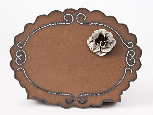 10'' Rust Frame With A Cream Flower Magnet