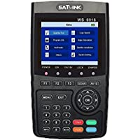 SATLINK WS-6916 DVB-S/S2 HD Digital Satellite TV Finder with MPEG-2/MPEG-4, Digital Satellite Signal Finder Meter, Black