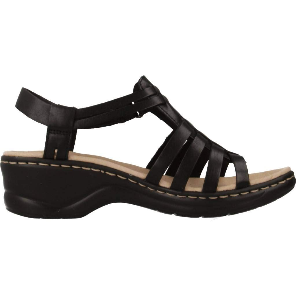Femme Sandale Noir Lisse Lexi Bridge Leather Clarks