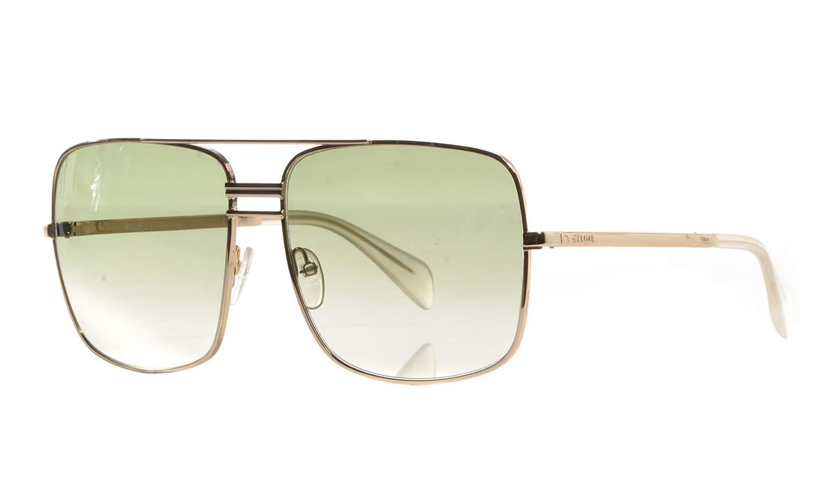 Céline Sunglasses - 41808/S / Frame: Gold Lens: Smoke Flash Silver