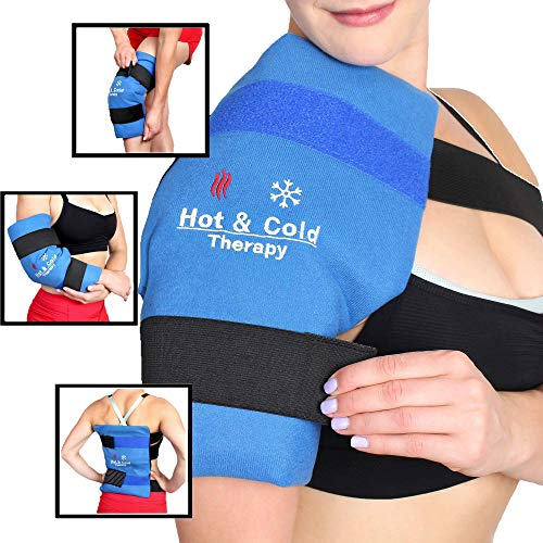 """BravoBrand Reusable Gel Ice Pack for Injuries - Large (11"""" x 14"""")"""