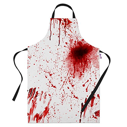 Funny Aprons for Bloody Murder Halloween BBQ Cooking Apron Kitchen Gift