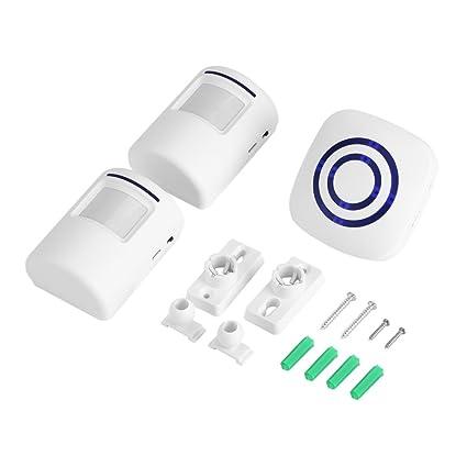 Inalámbrica Detector Diario de timbre sensor de infrarrojos de movimiento Alarma Alarma con receptor y emisor