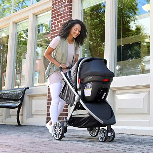 5144Io9LYwL - BRITAX B-Lively Travel System With B-Safe 35 Infant Car Seat | One Hand Fold, XL Storage, Ventilated Canopy, Easy To Maneuver, Cardinal