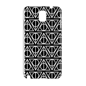 Cool-benz Simple black triangle pattern 3D Phone Case for Samsung Galaxy Note3