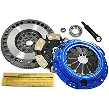 EFT STAGE 3 CLUTCH KIT+RACING FLYWHEEL 1985-87 TOYOTA COROLLA GTS AE86 1.6L 4AGE