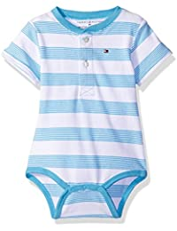 Baby Boys' Short Sleeve Striped Walli Bodysuit