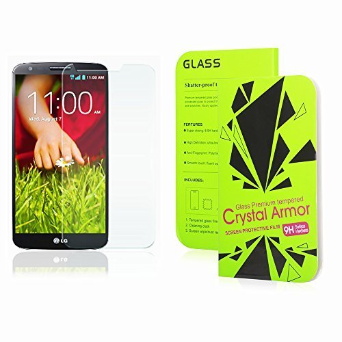 LG G2 Screen Protector, Crystal Armor 0.33mm Tempered Glass Crystal Clear | Slim | Anti Finger Print | Scratch Proof and Light weight Screen Protector for LG G2 (Tempered Glass Lg G2 compare prices)